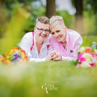 Lesbisches Ehepaar in Hamburg