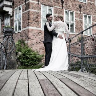 Hamburg Bergedorfer Schloß - ein Hochzeitsfoto