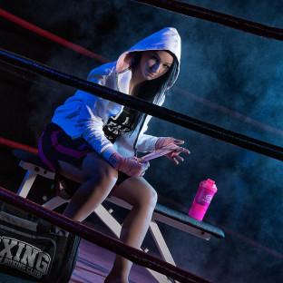 Foto von Blondine im Boxring