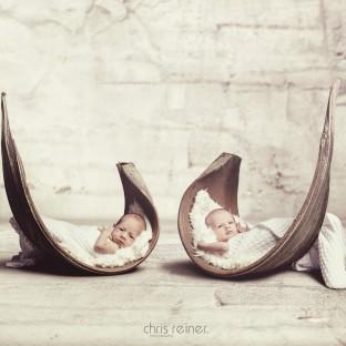 Baby-Zwillinge im Fotostudio Pinneberg