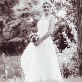 Braut am Schloss