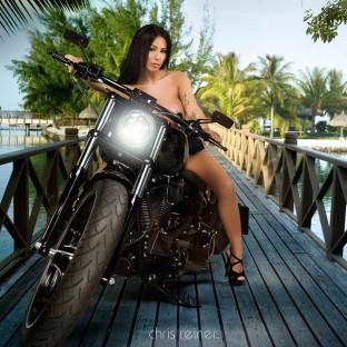 Aktshooting mit Harley Davidson