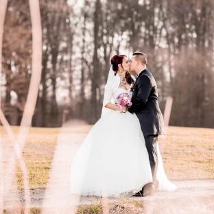 Herbstliches Hochzeitsfoto