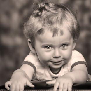 Babyfotofoto Junge / Aufnahmeort: Fotostudio