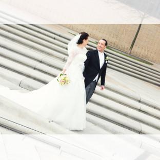 Brautpaar in der Hafencity
