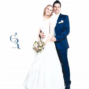 Hochzeitsfoto im Fotostudio (Profistudio von Hochzeitsfotograf Chris Reiner)